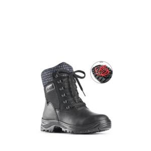 kursk - Bottillon pour homme en textile de couleur noir marque Olang