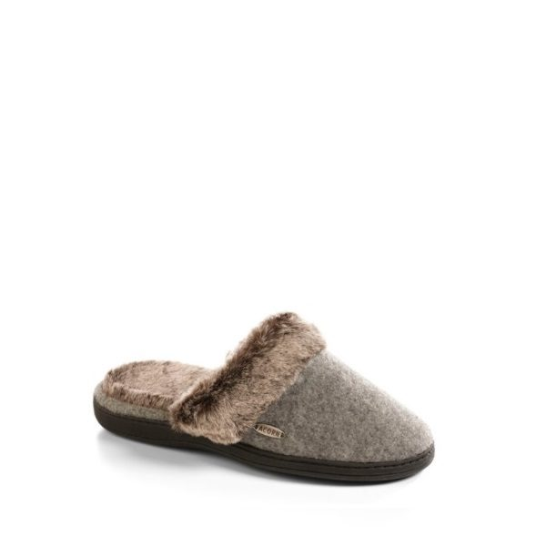 Acorn - Chinchila Scuff Slipper - Gris