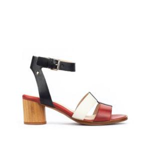 Rota - Sandale pour femme en cuir couleur rouge de marque Pikolinos