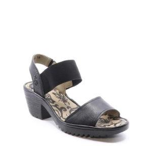 WOST074FLY - Sandale pour femme en cuir couleur noir de marque Fly London