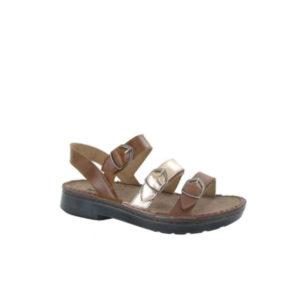 Lamego - Sandale pour femme en cuir couleur brun rose de marque Naot