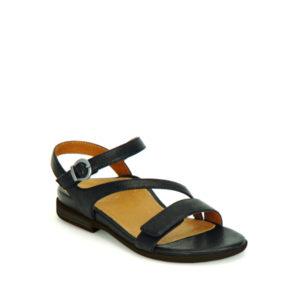 Tia - Sandale pour femme en cuir couleur noir de marque Aetrex
