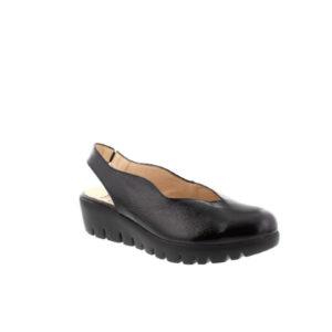 C-33161 - Sandale pour femme cuir couleur noir de marque Wonders
