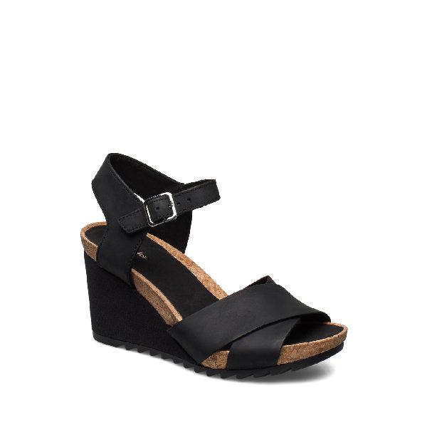 Flex Sun - sandale pour femme en cuir couleur noir de marque Clarks