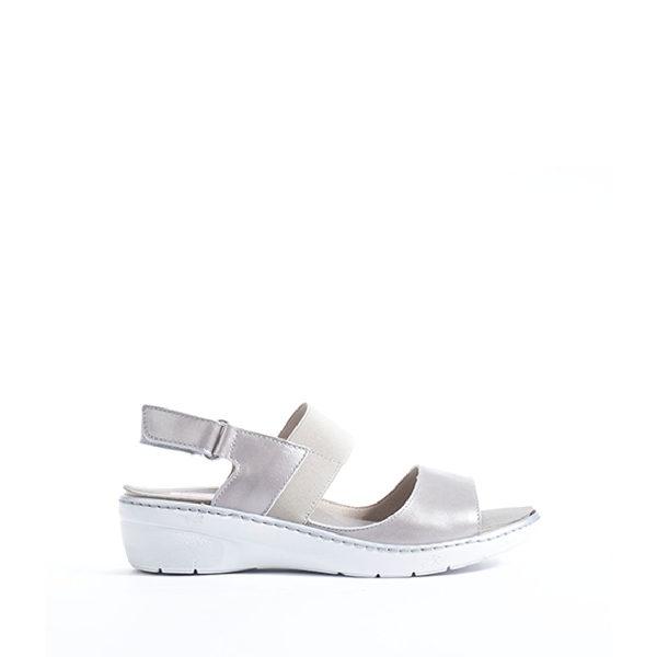 Solly - sandale pour femme en cuir couleur blanc de marque Fluchos