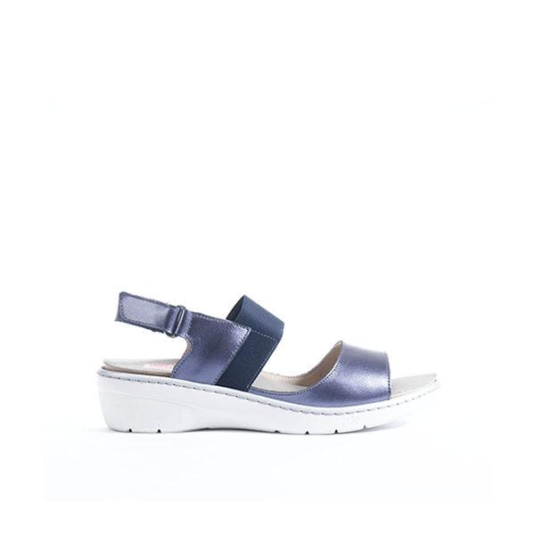 Solly - sandale pour femme en cuir couleur marine de marque Fluchos