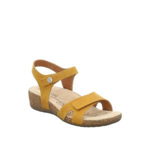 Natalya 07 - Sandale pour femme en cuir couleur jaune de marque Josef Seibel