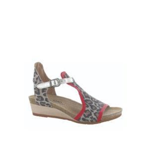 Fiona - Sandale pour femme en cuir couleur leopard de marque Naot
