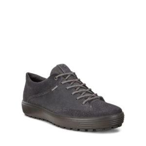 Soft 7 Tred - Chaussure pour homme en nubuck couleur magnet de marque Ecco