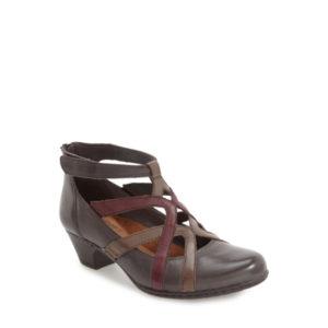 Adrina - Chaussure pour femme en cuir couleur gris de marque Cobb Hill