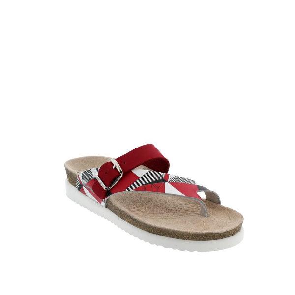 Helen Mix - Sandale pour femme en cuir couleur rouge de marque Mephisto
