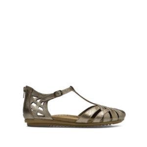 Ireland. - sandale pour femme en cuir couleur etain de marque Cobb Hill