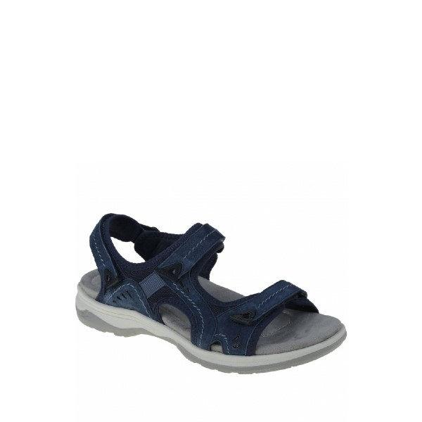 Higgins Halton - sandale pour femme en cuir couleur marine de marque Earth