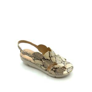 D-8210-X - Sandale pour femme en cuir couleur serpent de marque Wonders