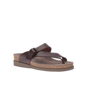 Helen Plus - sandale pour femme en cuir couleur brun foncer de marque Mephisto