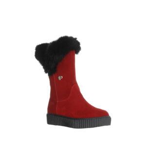 Ruby - Botte pour femme en suede couleur rouge de marque Pajar