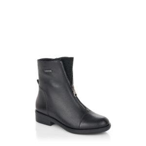 R4976 - Bottillon pour femme en suede couleur noir de marque Remonte