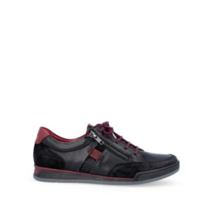 Charis - Chaussure pour femme en cuir couleur noir de marque Fluchos