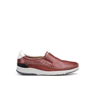 Maui - Chaussure pour homme en cuir de couleur rouge de marque Fluchos